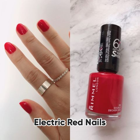 Easy Electric Red Nails