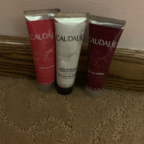 Perfect caudalie hand nail cream trio