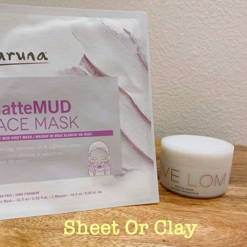 Sheet mud masks vs clay masks