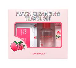 Peach Cleansing Travel Set