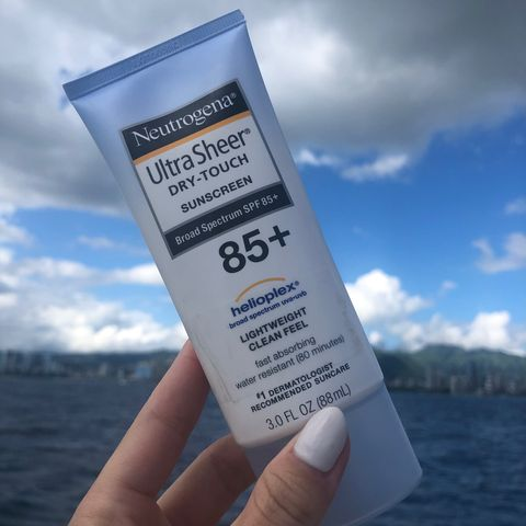 Neutrogena ultra-sheer dry touch SPF 85 - love!