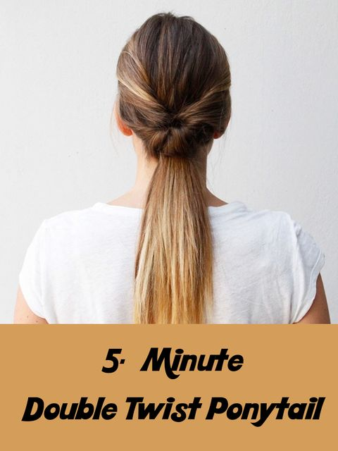 Tired of your basic ponytai?Try this double twist ponytail! Super Easy!👱‍♀️👱‍♀️