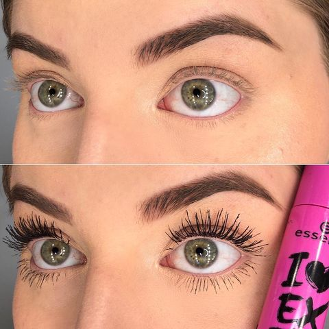 Mascara Before&After using ess
