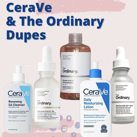 Hyram Approved🎉Dupes for Every Sold Out CeraVe & The Ordinary Product