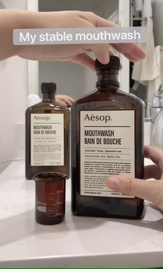 Stable mouthwash for 2+ years - Aesop